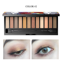 Load image into Gallery viewer, 12 Colors Nude Eyeshadow Makeup Palette
