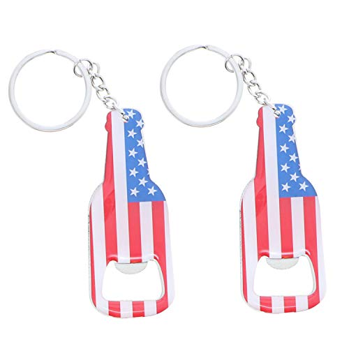 American Flag Beer Bottle Opener Keychain
