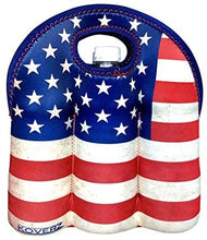 Load image into Gallery viewer, American Flag USA Beer Bottle Carrier