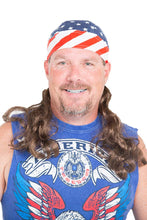 Load image into Gallery viewer, Mullet Wig Skull America Flag Cap