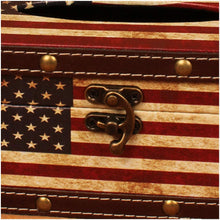 Load image into Gallery viewer, American Flag Wooden Tissue Box Cover Holder