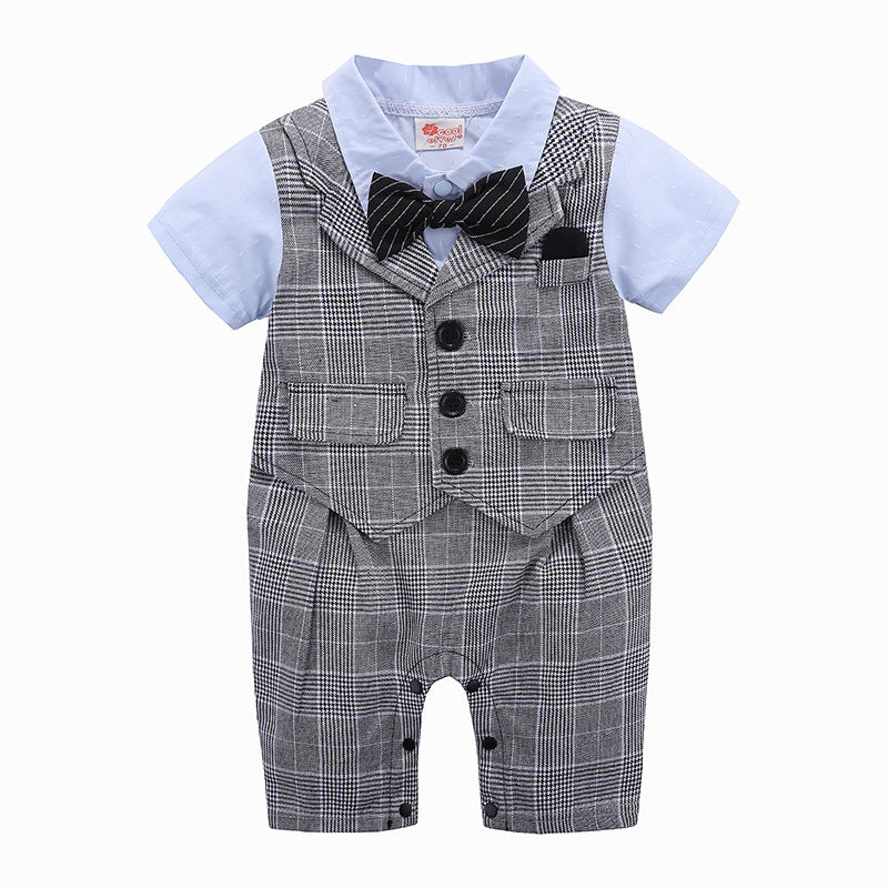 Infant Toddler Baby Boy Tuxedo Romper