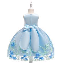 Load image into Gallery viewer, Baby Girls Princess Flower Applique and Tulle Holiday Dress