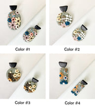 Load image into Gallery viewer, Hot Polymer Clay Floral Earrings