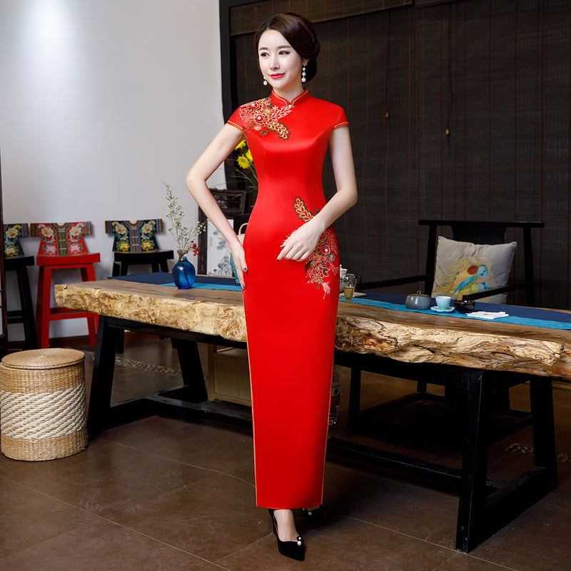 Embroidery Brocade Wedding Cheongsam