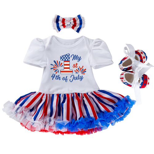 4th of July Baby Girls Birthday Outfit