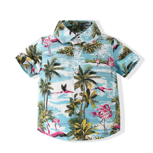 Toddler Boy Coconut Tree Graphic Shirt