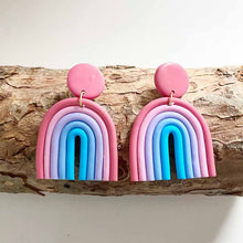 Load image into Gallery viewer, Vintage Handmade Rainbow Macaron Boho Colorful Earrings