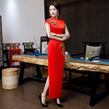 Load image into Gallery viewer, Brocade Wedding Cheongsam with Side Split