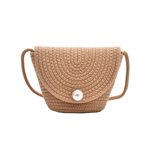 Hand-woven Straw Crossbody Shoulder Bag