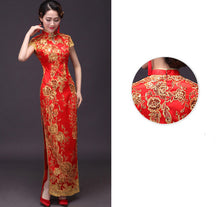 Load image into Gallery viewer, Chinese Lace Cheongsam Dress for Wedding