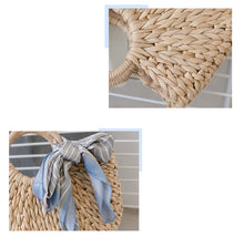 Load image into Gallery viewer, Round Handle Handwoven Tote Bag