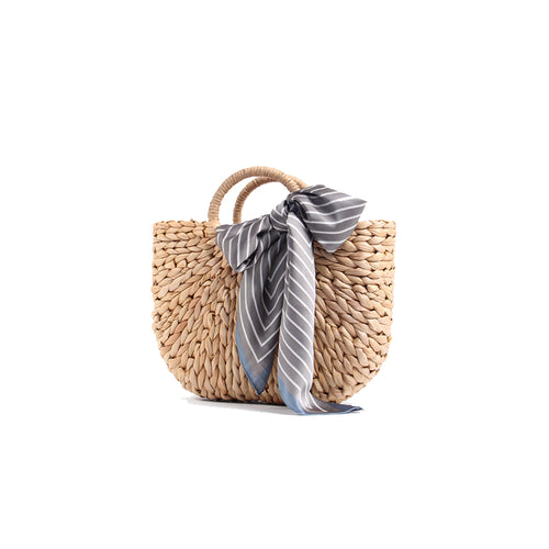 Handwoven Corn Husk Basket Bag