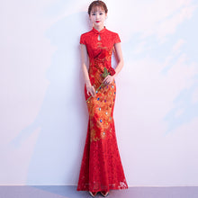 Load image into Gallery viewer, Bridal Mermaid Cheongsam Dress for Wedding