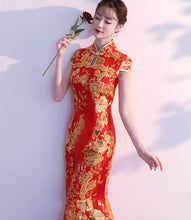 Load image into Gallery viewer, Custom Made Chinese Wedding Cheongsam Dress