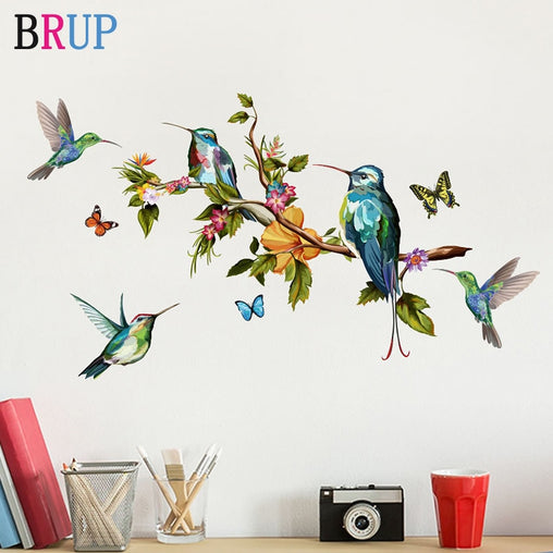 Hand Painted Parrot Bird Wall Stickers