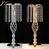 IMUWEN Exquisite Flower Vase Twist Shape Stand Golden/ Silver Centerpiece