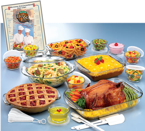34PC ANCHOR HOCKING® EXPRESSIONS DELUXE OVENWARE SET