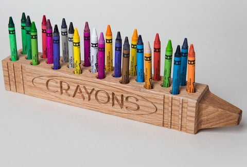 "Cray DisPlay™ ""CRAYON"" Holder- Natural Finish"