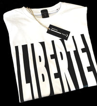"Load image into Gallery viewer, Le Clan ""LIBERTE"" white T-shirt"