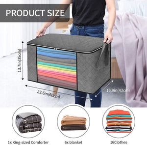 Blushbees® Waterproof Portable Storage Bags for Winter Clothes, Quilts, Blanket etc (Without Metal Support)