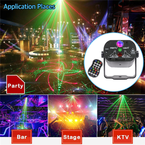 60 Patterns Disco LED Laser Projector Party Stage Light