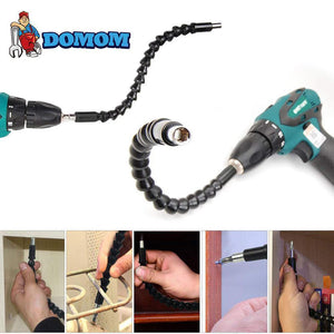 DOMOM Flexible Drill Bit Extension with Screw Drill Bit Holder