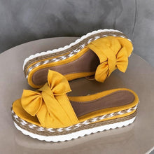 Load image into Gallery viewer, Bow-Knot slippers with thick soles platform sandals