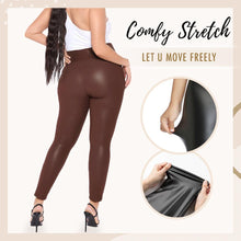 Load image into Gallery viewer, Plus Size Perfect Fit Leather Leggings