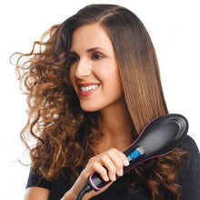 Load image into Gallery viewer, Ceramic Hair Straightener Brush