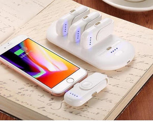 (A set of free shipping)--Portable magnetic 4-in-1 mobile power supply