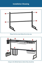 Load image into Gallery viewer, German Stainless Steel Kitchen Shelf Organizer Drying Rack