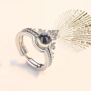 "100 Languages ""I LOVE YOU"" Ring,Necklace"