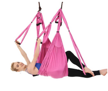 Load image into Gallery viewer, Aerial Yoga Hammock 6 Handles Strap, Home Gym Hanging Belt Swing, Anti-Gravity Aerial Traction Device