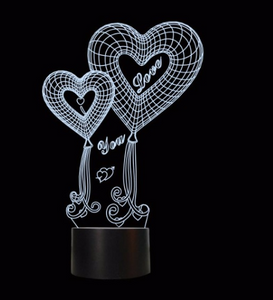 I Love You Mom LED 3D Illusion Night Light 7 Colors USB Desk Light Warm Gift Decoration lamp for mother's day present