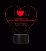 Load image into Gallery viewer, I Love You Mom LED 3D Illusion Night Light 7 Colors USB Desk Light Warm Gift Decoration lamp for mother's day present