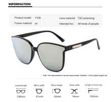 Load image into Gallery viewer, High Quality Fashion Mirror Big Frame Folding Sunglasses