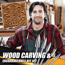 Load image into Gallery viewer, Wood Carving & Engraving Drill Bit Set