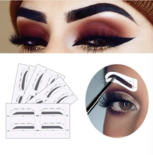 Load image into Gallery viewer, Three-Step Easy Eyebrow Stencil Sticker Set of 96 Pairs!