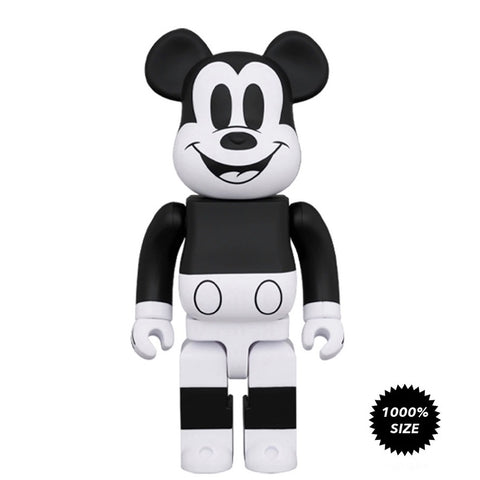 Be@rbrick x Mickey Mouse (B&W) 1000%