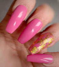 Load image into Gallery viewer, Press On Nails * Pink with Gold Foil * False Nails * Hand Painted Gel Nails *