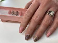 Load image into Gallery viewer, Press On Nails *Pink Marble * False Nails * Hand Painted Gel Nails *