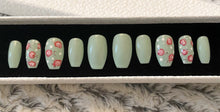 Load image into Gallery viewer, Press On Nails * Cath Kidston Nails * False Nails * Hand Painted Gel Nails *