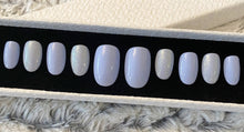 Load image into Gallery viewer, Press On Nails * Baby Blue * False Nails * Hand Painted Gel Nails *