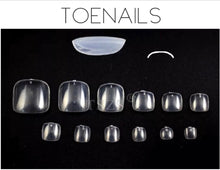 Load image into Gallery viewer, Full Cover Tips - TOENAILS - for Press ONS.