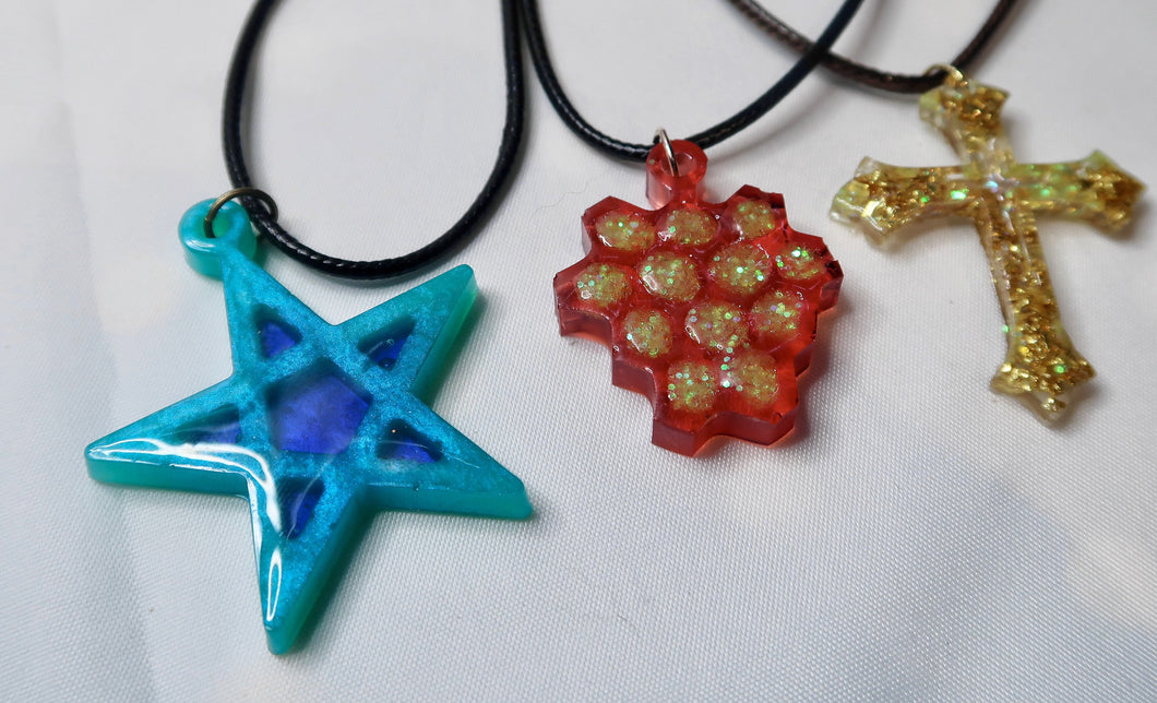 Coloured Resin Necklaces