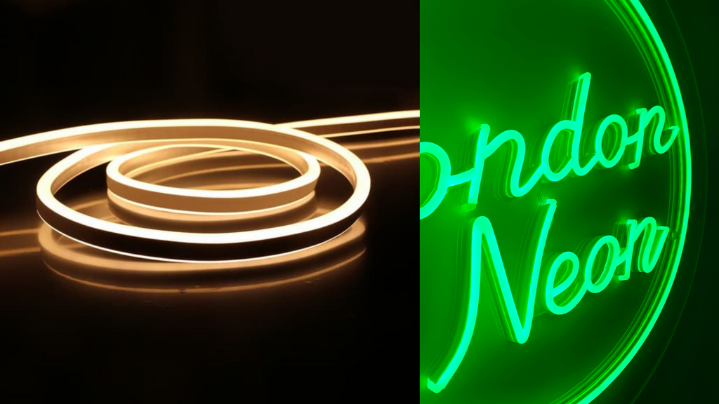 LED neon guide, LED neon lights on, and LED neon backboard of different size and shapes, Custom LED neon backboards, Gold mirrored Backboards UV printed backboards.