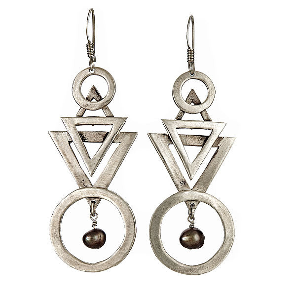Deco Earrings Silver