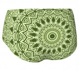 Green Mandala Mini Shorts