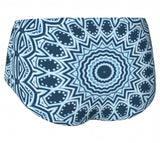 Blue Mandala Mini Shorts